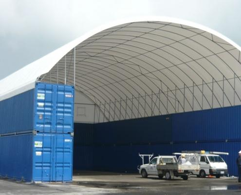 Structure hall fabric tents
