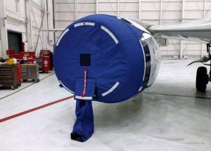 Plane engine cover